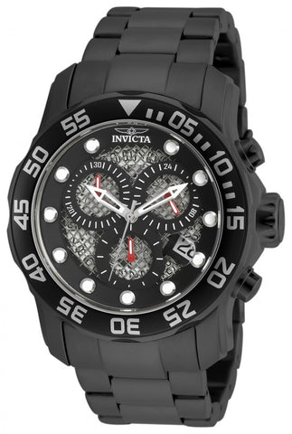 Invicta Pro Diver Chronograph Black Open Weave Dial Mens Watch 19838