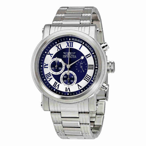 Invicta Specialty Chronograph Blue and Silver  Dial Mens Watch 15212