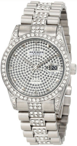 Akribos Diamond Stainless Steel Mens Watch AK486SS
