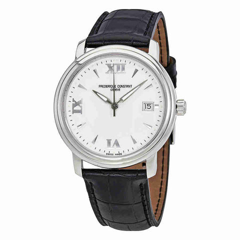Frederique Constant White Dial Black Leather Mens Watch FC-240HW3P6