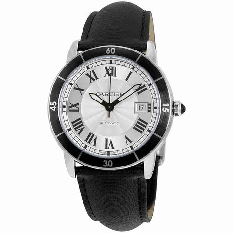 Cartier Ronde Croisiere Automatic Silver Dial Mens Watch WSRN0002