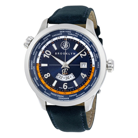 Brooklyn Casual Cadman Swiss Quartz GMT Mens Watch