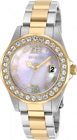Invicta Sea Base Pink Mother of Pearl Dial Ladies Watch 20392