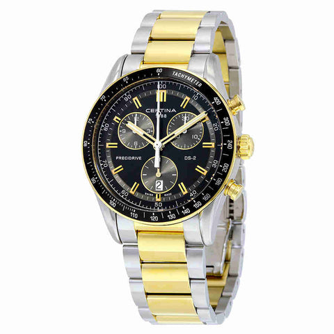 Certina DS - 2 Chronograph Black Dial Mens Watch C0244472205100