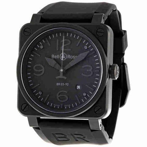 Bell and Ross Aviation Phantom All Black Dial Automatic 42MM Mens Watch BR-03-92-PHANTOM