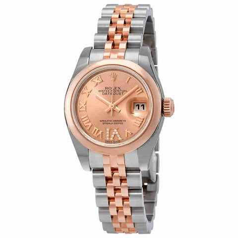 Rolex Lady Datejust Pink Dial Automatic Ladies Jubilee Watch 179161PRDJ