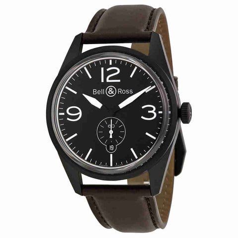 Bell and Ross Vintage Automatic Mens Watch RBRV123-BL-CA-SCA