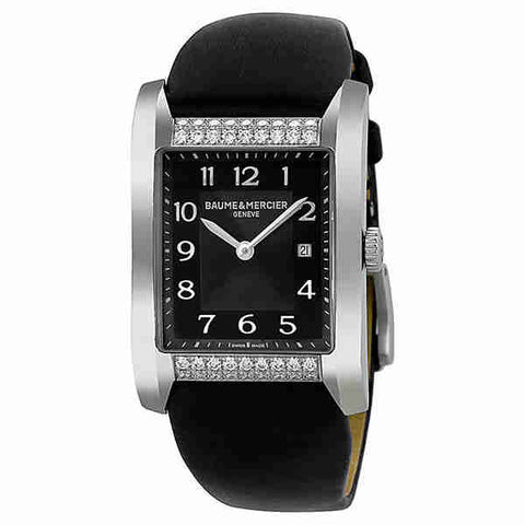 Baume and Mercier Hampton Milleis Black Dial Ladies Watch 10024