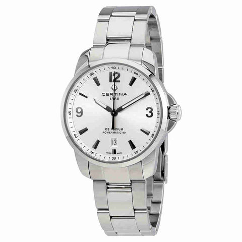 Certina DS Podium Automatic Silver Dial Mens Watch C0344071103700