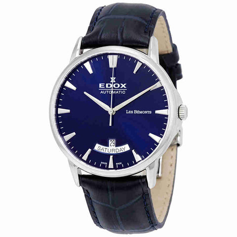 Edox Les Bemonts Automatic Blue Dial Mens Watch 83015 3 BUIN