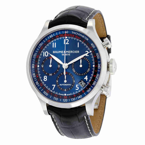 Baume and Mercier Blue Dial Chronograph Automatic Mens Watch 10065