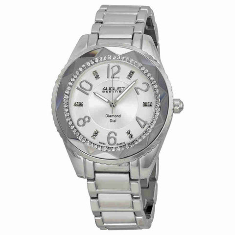 August Steiner Silver Dial Silver-tone Ladies Watch AS8122SS