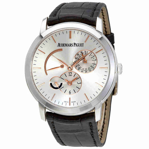 Audemars Piguet Jules Audemars Dual Time Silver Dial Automatic Mens Watch 26380BCOOD002CR01