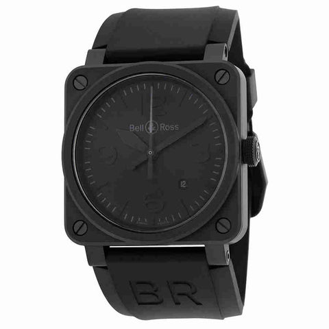 Bell & Ross Phantom Automatic Black Dial Mens Watch BR0392-PHANTOM-CE