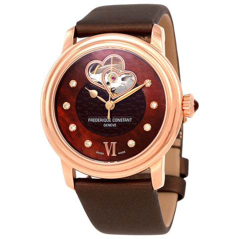 Frederique Constant  Automatic Brown Dial Ladies Watch FC-310CDHB2P4