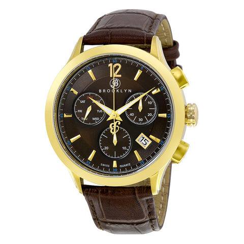 Brooklyn Dakota Swiss Quartz Chronograph Brown Dial Mens Watch 205-M2931
