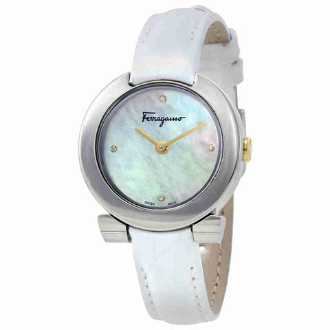 Ferragamo Gancino Evening Mother of Pearl Dial Ladies Watch FAP010016