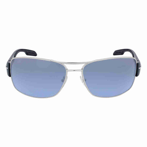 Prada Active Grey Blue Rectangular Sunglasses 0PS 53NS-1BC5I1-65