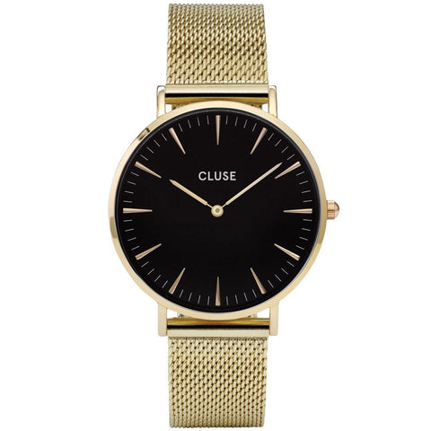 Cluse La Boheme Black Dial Gold-tone Ladies Watch CL18110