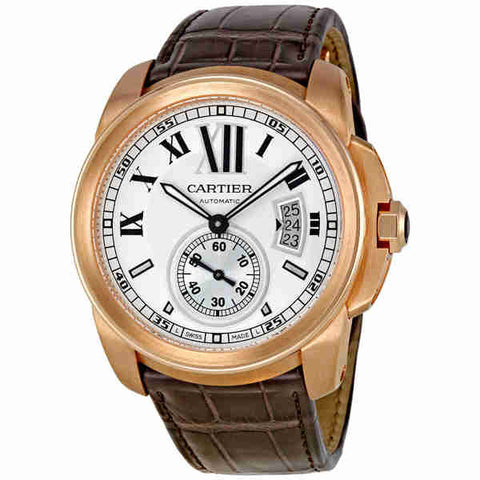 Cartier Calibre De Cartier Silver Dial Mechanical Mens Watch W7100009