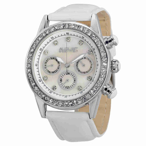 August Steiner Silver-tone Ladies Watch AS8018SSW