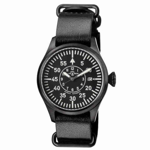 Air Blue Alpha B 44mm Automatic Black Dial Mens Watch ALPHABPVD44