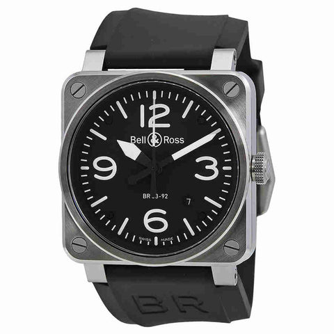 Bell and Ross Aviation Automatic 42mm Mens Watch BR-03-92-STEEL