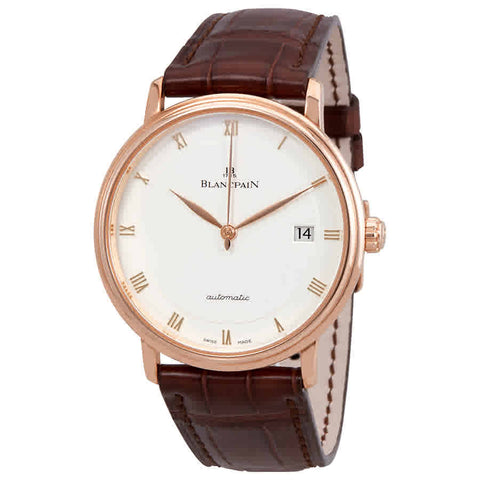 Blancpain Villeret Ultraplate Opaline Dial 18K Rose Gold Automatic Mens Watch 6223-3642-55A