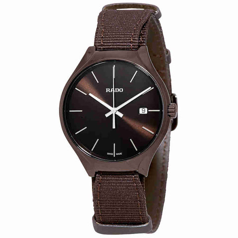 Rado True Quartz Brown Dial Mens Watch R27234306