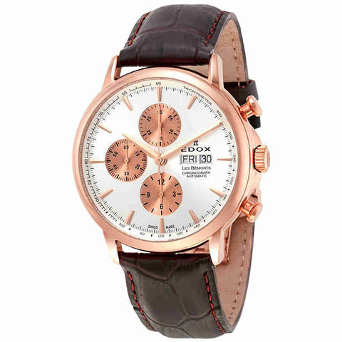 Edox Les Bemonts Chronograph Automatic Mens Watch 01120 37R AIR