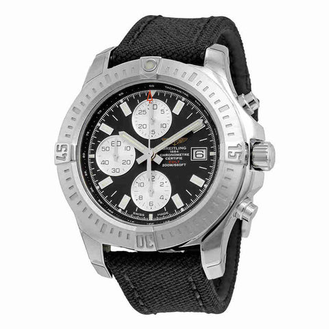 Breitling Colt Chronograph Automatic Black Dial Military Strap Mens Watch A1338811-BD83BKFT