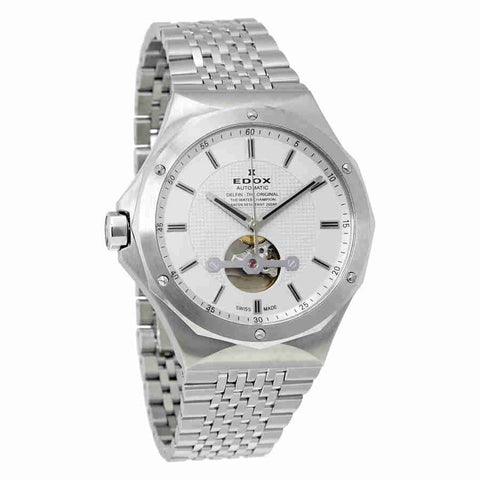 Edox Delfin Silver Dial Automatic Mens Watch 85024 3M AIN