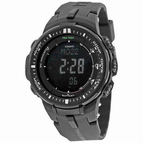 Casio Pro Trek Black Digital Dial Resin Mens Watch PRW-3000-1ACR