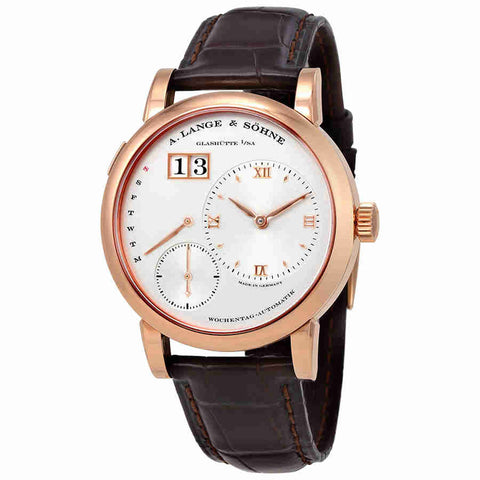 A. Lange and Sohne Lange 1 Daymatic Silver Dial 18kt Rose Gold Mens Watch 320.032