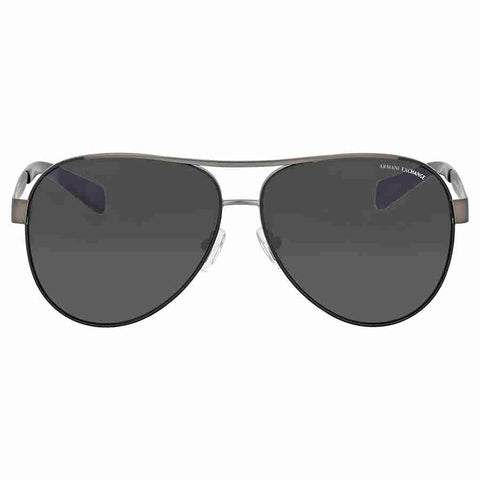 Armani Exchange Gunmetal Grey Aviator Sunglasses