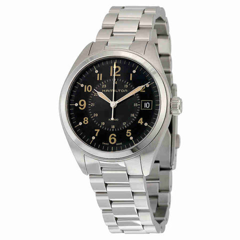 Hamilton Khaki Field Black Dial Stainless Steel Mens Watch H68551133