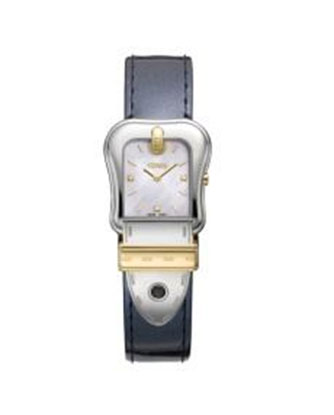 Fendi B.Fendi White Mother of Pearl Dial Ladies Leather Watch F380124531D1