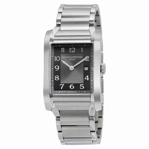 Baume and Mercier Hampton Black Dial Stainless Steel Ladies Watch 10021