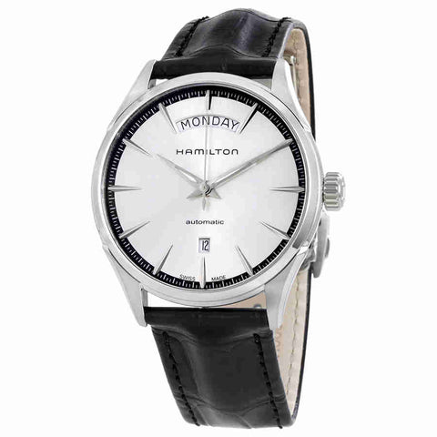 Hamilton Jazzmaster Silver Dial Black Leather Mens Watch H42565751