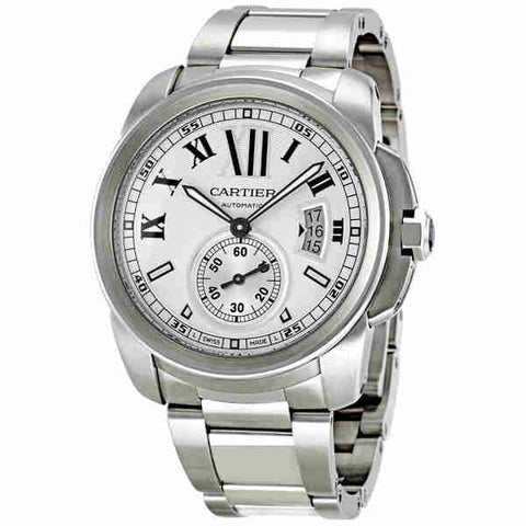Cartier Calibre de Cartier Automatic Silver Dial Mens Watch W7100015