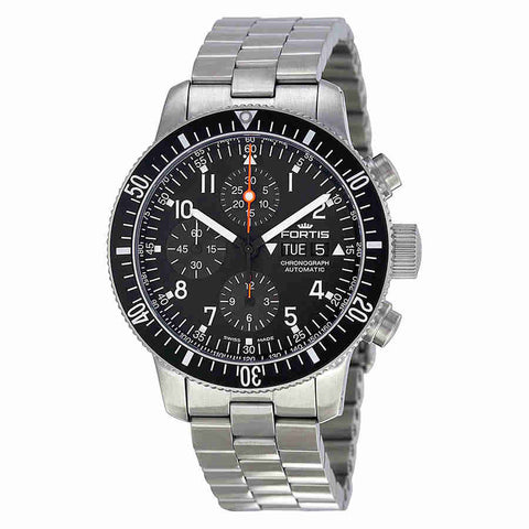 Fortis B-42 Cosmonaut Chronograph Black Dial Mens Watch 6381011M
