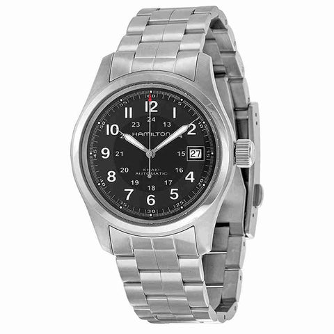 Hamilton Khaki Field Automatic Black Dial Mens Watch H70455133