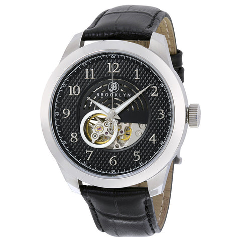 Brooklyn Carlton Skeleton Mens Automatic Black Dial Mens Watch