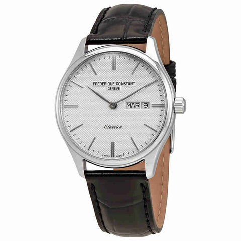 Frederique Constant Classics Quartz Silver Colored Dial Day/Date Mens Watch FC-225ST5B6