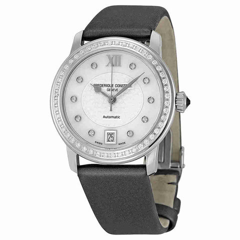 Frederique Constant Slimline Mother of Pearl Diamond Ladies Watch FC-303WHD2PD6