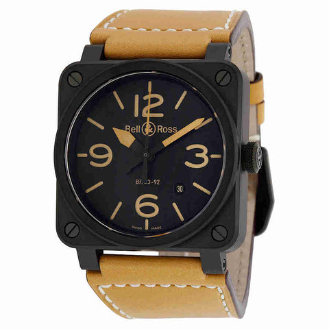 Bell and Ross Instrument Heritage Black Dial Automatic 42MM Mens Watch BR-03-92-HERITAGE