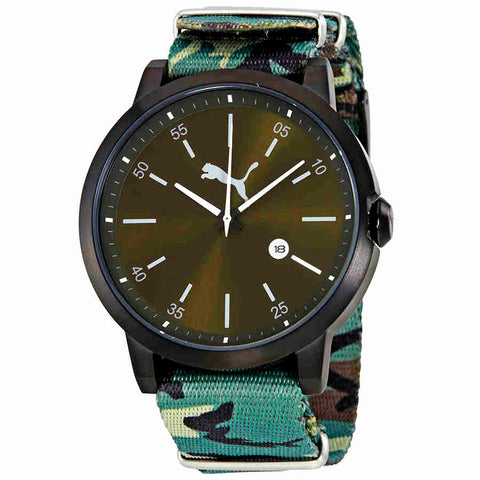 Puma Liberated Green Dial Mens Camo Watch PU104231004U