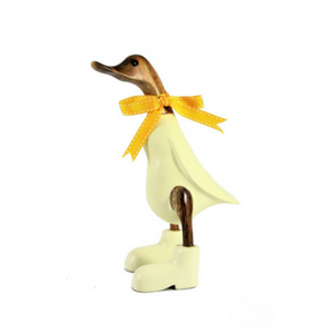 Yellow Pastel Bamboo Duck with Boots
