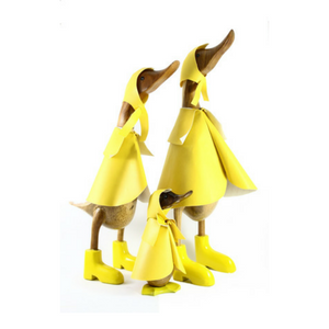 Family of Raincoat Ducks - Small, Medium and Large