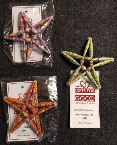 Star Christmas Ornaments 3 for $20